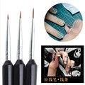 3pcs Nail Dotting Pen Silver Uv Gel Polish Painting Drawing Line Tools Kit DIY Design Nail Supplies Markers Art Pencil Manicure