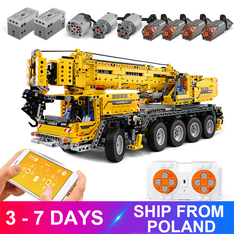 MouldKing 13107 Mobile Crane MK II Compatible Ultimate 42009 Technic Building Blocks Bricks Educational Toy Child Christams Gift 1
