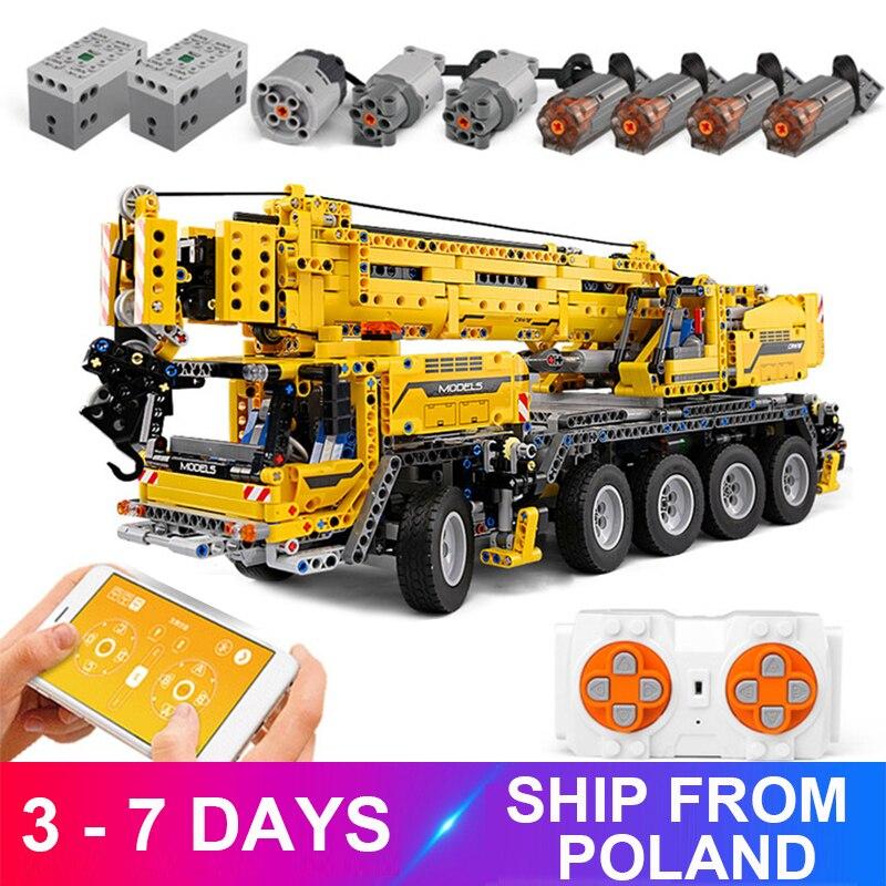 Moldking 13107 móvel guindaste mk ii compatível final 42009 blocos de construção técnica tijolos brinquedo educacional criança christams presente