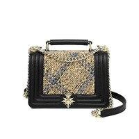 New leather exquisite splicing cow purse plaid hair single shoulder women's oblique handbag 2019 M833DP4167