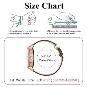 Image 5 - עבור מאובנים מיזם להקת שעון 18mm שחרור מהיר קלאסי עור עלה אבזם נשים רצועת יד עבור מאובנים ש מיזם gen 3/Gen 4