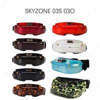 Skyzone SKY02X/SKY02C/SKY03O/SKY03S Oled 5,8 GHz 48CH la diversidad FPV gafas de apoyo OSD DVR HDMI con la cabeza rastreador ventilador LED