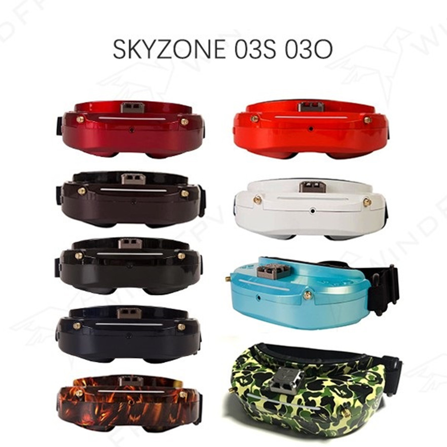Skyzone SKY02X / SKY02C / SKY03O / SKY03S Oled 5.8GHz 48CH Diversity FPV Goggles Support OSD DVR HDMI With Head Tracker Fan LED
