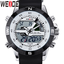цена на WEIDE Watch Tops Luxury Brand Men Fashion Sports Men's Watches Quartz LED Clock Man Army Military Wrist Watch Relogio Masculino