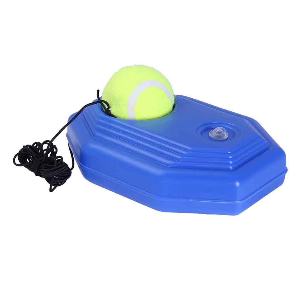 Купить с кэшбэком Tennis Training Tool Single Training Practice Balls Self-study Tool  Singles Automatic Rebound Rubber Band Sparring Device