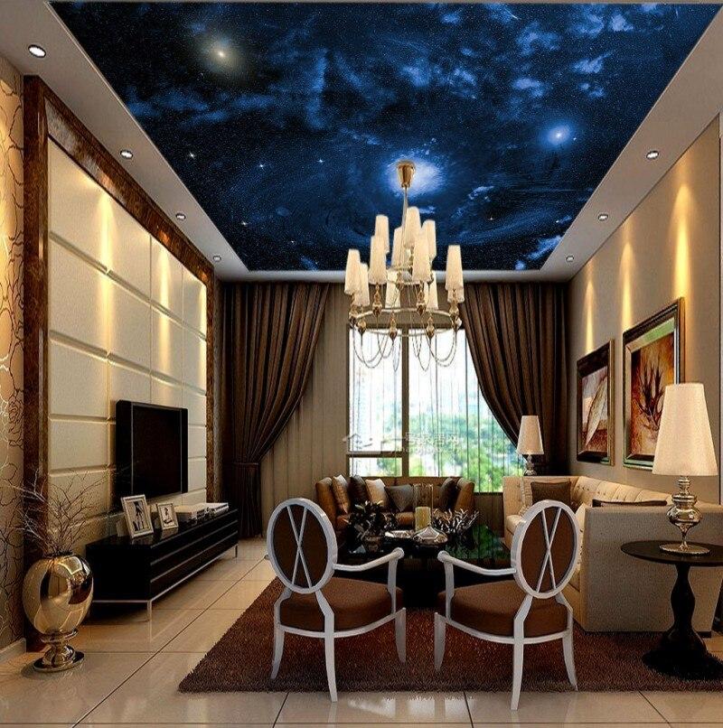 Personnalisé 3D Photo papier peint plafonds beau ciel étoilé HD grande image chambre d'enfants plafond