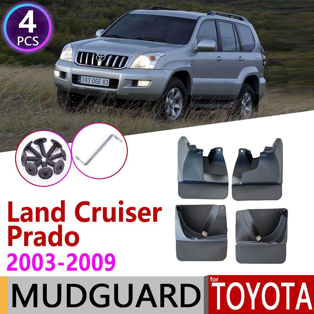 Mudflap For Toyota Land Cruiser Prado LC120 FJ120 120 2003~2009 Fender Mud Guard Splash Flap Mudguard Accessories 2004 2005 200