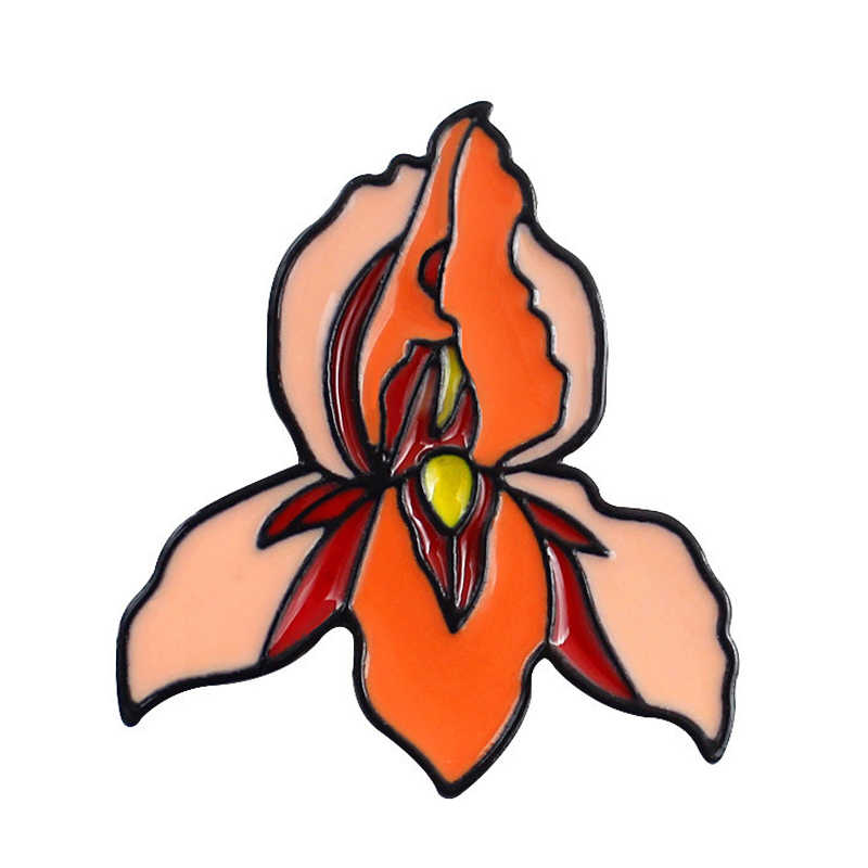 Bunga Tanaman Perawat Dokter Enamel Pin Bros Lencana Pertolongan Pertama Kit Jantung Rahim Meredith Grey Medis Perhiasan Tas Lencana Hadiah