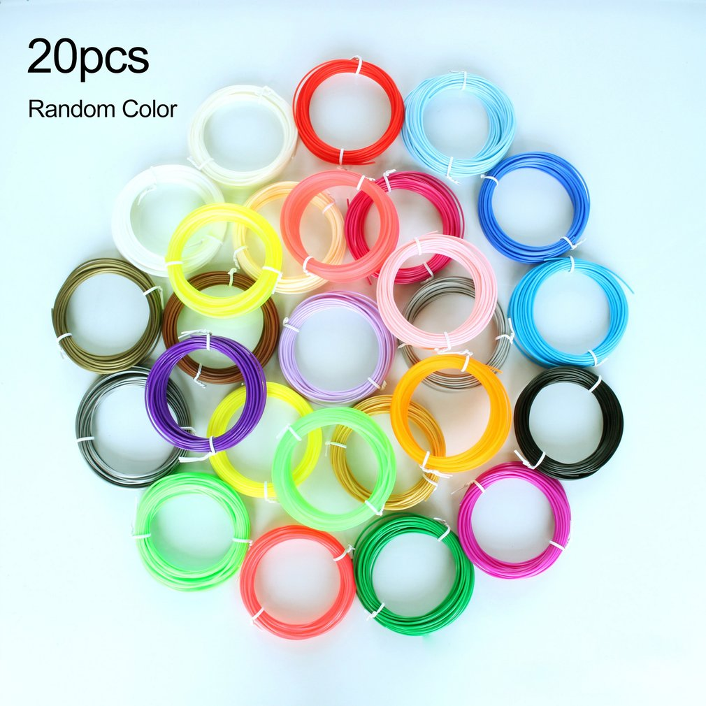 10pcs/20pcs 3D Filament PLA Supplies 1.75mm 3D Printer Filament Printing Material For 3D Printing Pen 3D Printer Random Color|3D Printing Materials| |  - title=