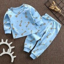 CYSINCOS/Детские комбинезоны для новорожденных; сезон осень-зима; комплект с длинными рукавами; хлопковый Детский комбинезон для девочек и мальчиков; комплект из 2 предметов; хлопковый комбинезон