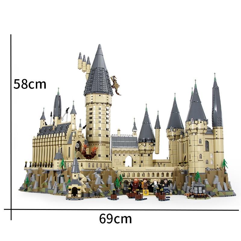 6742 pièces compatibles legoinglys 16060 château modèle film château modèle magique bloc de construction briques jouets enfants cadeau ville 71043 - 4