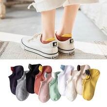Носки лодочки с ушками карамельных цветов милые оригинальные