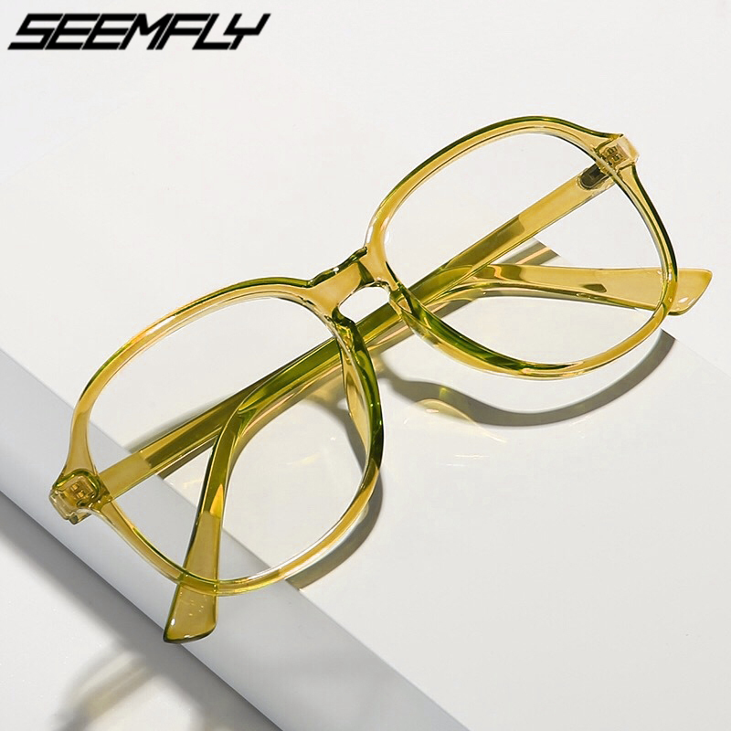Seemfly Finished Myopia <font><b>Glasses</b></font> Transparent Plastic Frame Eyewear Diopters 0 -0.<font><b>5</b></font> -<font><b>1</b></font> -<font><b>1</b></font>.<font><b>5</b></font> -2 -2.<font><b>5</b></font> -3 -3.<font><b>5</b></font> -4 -4.<font><b>5</b></font> -<font><b>5</b></font> -<font><b>5</b></font>.<font><b>5</b></font> -6 New image