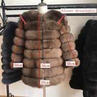 Echtpelz 2019 Echt Fuchs Pelz Mantel Frauen Natürliche Echtpelz Jacken Weste Winter Oberbekleidung Frauen Kleidung
