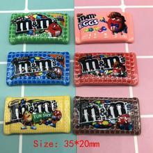 Каваи смолы M бобы шоколадные конфеты кабошоны украшения для скрапбукинга Diy
