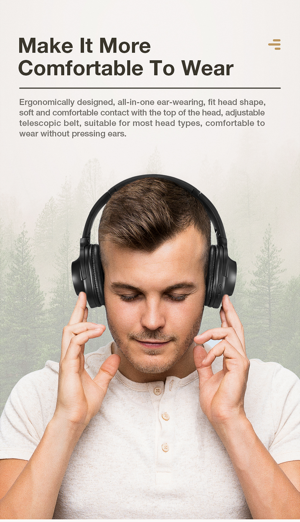 SANLEPUS Bluetooth Wireless Headphones Portable Stereo Headset with Mic For Music Earphone For iPhone Samsung Xiaomi