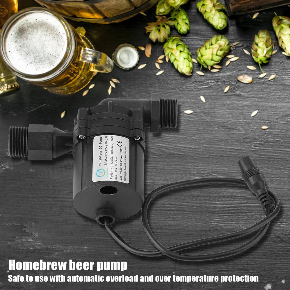Wine Making Electric Water Circulation DC 12V Brushless Durable Shaft Brewing Home Breweries Fluid Beer Pump Transfer Anti Rust