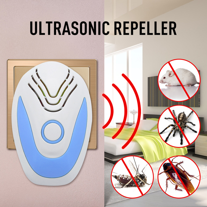 Newest Ultrasonic Electronic Pest Repeller  Control Rodent Rat Mouse Repeller Anti Mosquito Mouse Repeller US UK EU Plug