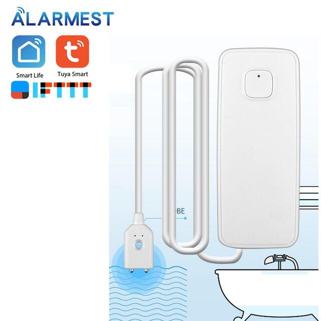 Alarmest Tuya WIFI Water Leak Sensor Protection Alarm Detector control  Tuya Smart Life App Power by Tuya