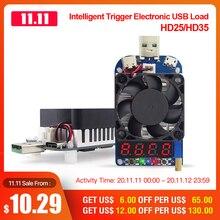 RD HD25 HD35 Kích Hoạt QC2.0 QC3.0 Điện Tử USB Tải điện trở Xả pin thử nghiệm có thể điều chỉnh điện áp hiện tại 35W