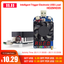 RD HD25 HD35 הדק QC2.0 QC3.0 אלקטרוני USB עומס הנגד פריקה סוללה מבחן מתכוונן הנוכחי מתח 35w
