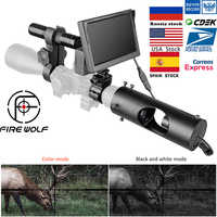 FIRE WOLF New Night Vision Scope Color 5inch LED Screen Hunting IR Infrared Camera Waterproof Night Vision Device For Riflescope