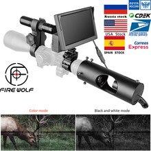 FIRE WOLF – caméra infrarouge de chasse, 5 pouces, portée de Vision nocturne, couleur, dispositif étanche pour fusil
