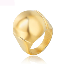 Luxury new jewelry 316L titanium steel rings gold color finger ring for women free shipping china supplier his and hers gold color titanium wedding band finger rings women