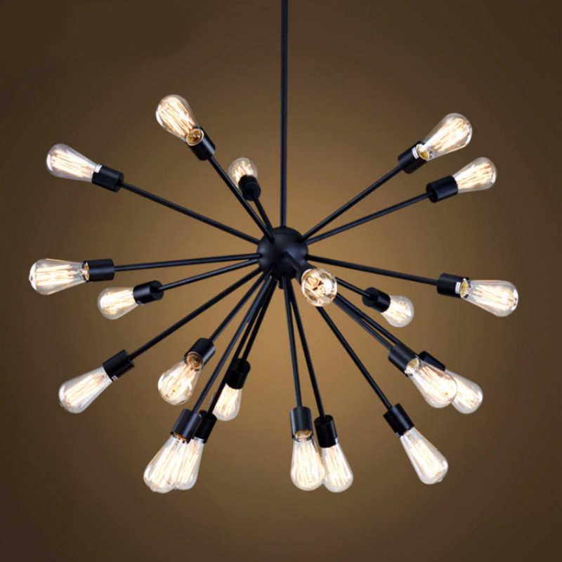 Edison ampulleri Vintage Endüstriyel Örümcek Loft Kolye Işık E27 12/16/18/20 Kafa Sputnik Kolye Lamba Restoran bar Işıkları