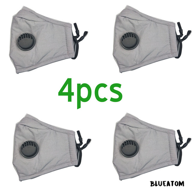 PM2.5 Filter Anti Haze Mouth reusable face mask with filter Flu Anti pm 25 washable Dust Masks Activated Carbon fabric 3