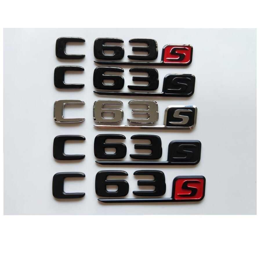 C63 Number Trunk Letters For Mercedes Benz C63 AMG Emblem Rear Trunk Logo Badge