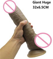 32*6.5cm Super Huge Dildos Thick Giant Dildo Realistic Anal Butt with Suction Cup Big Dick Dong Soft Penis Sex Toy For Women
