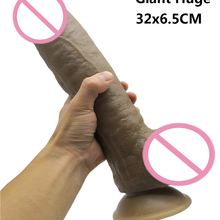 32*6.5cm Super Huge Dildos Thick Giant Dildo Realistic Anal