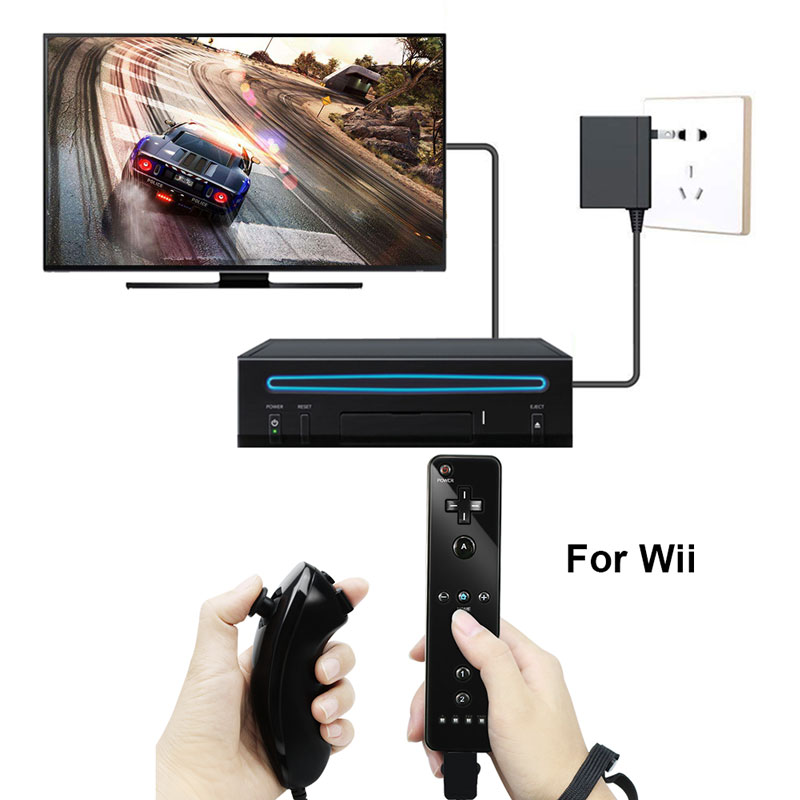 For Nintend Wii 2 in 1 Remote Gamepad Controller Without Motion Plus Bluetooth Wireless Remote Controle For Wii Nunchuck Joypad