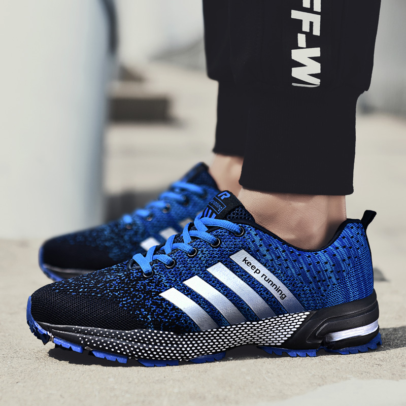 2019 Men Running Shoes Breathable Outdoor Sports Shoes Lightweight Sneakers For Couple Comfortable Couple Cushion Flats Training