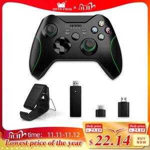 Image 1 - Dane żaba 2.4G bezprzewodowy kontroler do gier Joystick do kontroler do Xbox One dla PS3/smatfon z androidem Gamepad dla Win PC 7/8/10