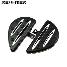 Motorcycles Black CNC Deep Cut Pedal Foot Rests Floorboards With Logo Fit For Harley Sportster 883 1200 Touring Dyna Softail motorcycle accessories foot rest pedal footpeg pedal for harley sportster 883 1200 touring dyna
