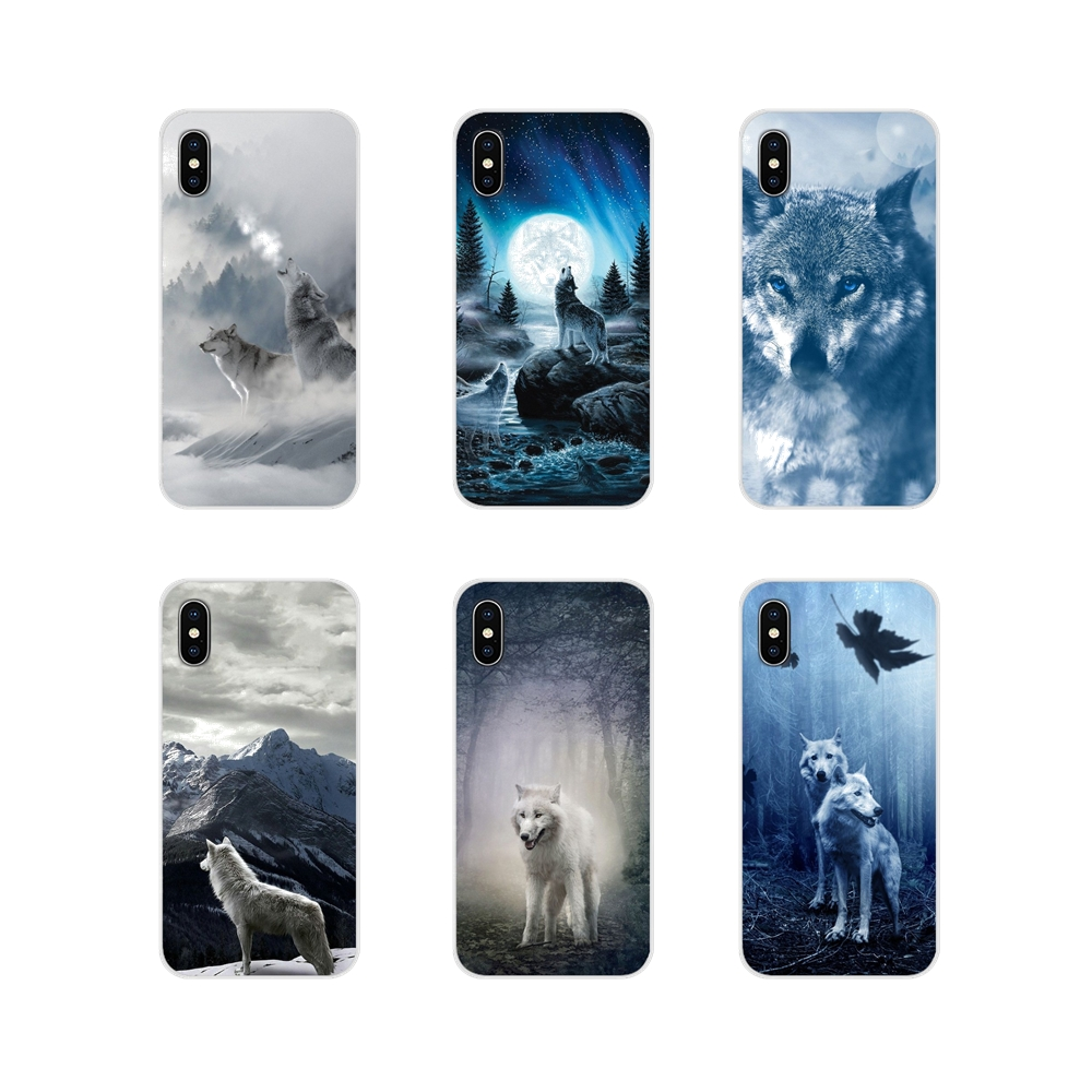 For Oneplus 3 5 6 7 T Pro <font><b>Nokia</b></font> 2 3 5 6 8 9 <font><b>230</b></font> 2.1 3.1 5.1 7 Plus 2017 2018 Transparent TPU Cases <font><b>Cover</b></font> wild snow wolf mountain image