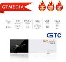 GTMEDIA GTC DVB-C DVB T2 DVB-S2 iptv decoder android 6.0 BOX TV DVB-T2 DVBT2 Tuner support cccam IPTV M3u TV BOX Set Top Box 5pcs original ipremium tvonline android tv box smart iptv set top box receptor decoder tv receiver