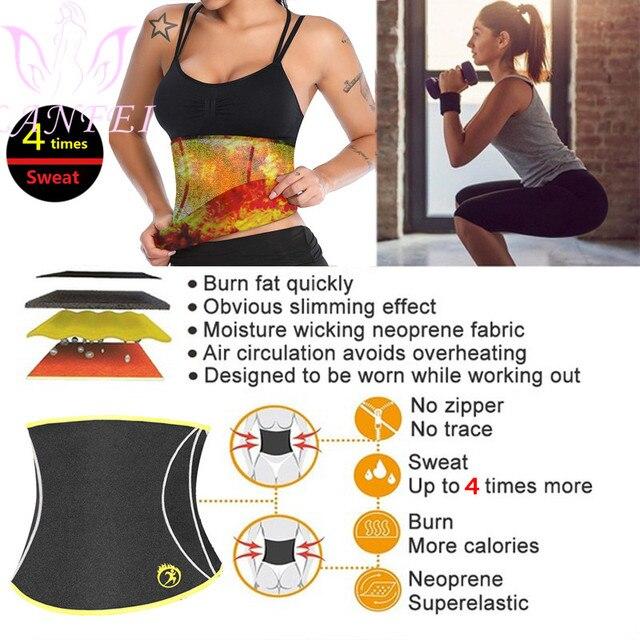 LANFEI Women Hot Neoprene Waist Trainer Belt Body Shaper Slimming Corset Suana Sweat Waist Trimmer Modeling Girdles for Fat Burn 2