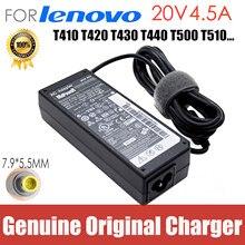 Оригинальный 20V 4.5A адаптер переменного тока зарядное устройство для ноутбука Lenovo Thinkpad E420 E430c E545 E425 B480 B490 T420 T430 V480 V580 SL410 T510