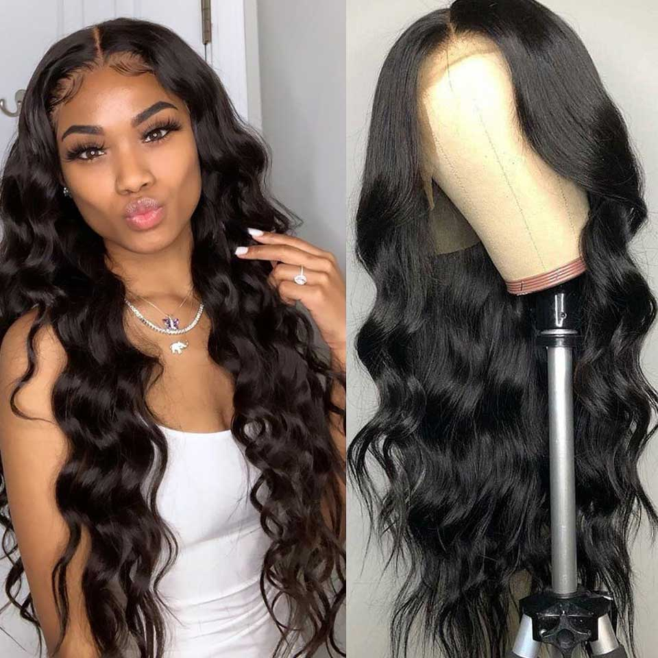180 Density Lace Front Human Hair Wigs 13X4 Brazilian Body Wave Lace Front Wig Non-Remy Human Hair Wigs For Black Women