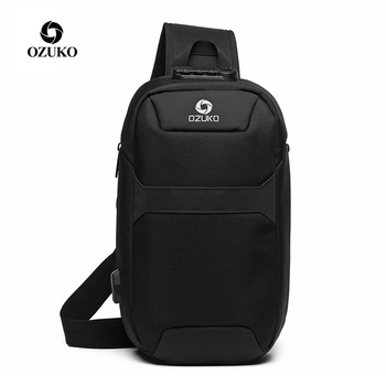 New OZUKO Bag Multifunction Crossbody Bag for Men Anti-theft Shoulder Messenger Bags Male Waterproof
