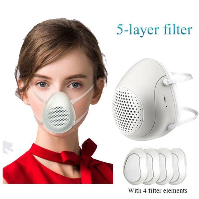 Smart Electric Masks Anti-bacterial Haze Flu Dust-proof Breathable  Level Protective Masks PM2.5 Mask 2020! 1