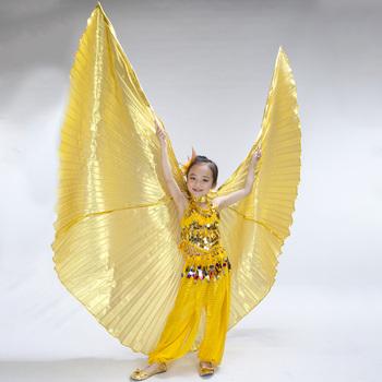 Dzieci taniec brzucha Isis skrzydła dzieci anioł taniec brzucha Isis skrzydła rekwizyty na występy trzy kolory bez kija tanie i dobre opinie YI NA SHENG WU Poliester spandex Dziewczyny Wings3 Belly Dancing Gold silver Free size Children isis wings Opp bag China Post