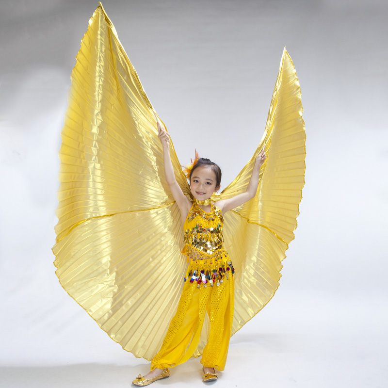 Kids Belly Dance Isis Wings Children Angel Belly Dance Isis Wings Performance Props Three Colors No Stick