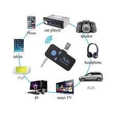 AUX Do Bluetooth Receptor de Áudio Receptor Bluetooth Car Auto mini 3.5 milímetros Cartão TF Handsfre Chamada Bluetooth Adaptador Receptor Para O Carro PC