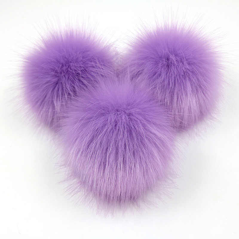For Caps Hats Clothes 2PCS Fake Fur Ball Hat  DIY Craft Decoration Fake Fur Accessories Balls 8cm DIY Beanie Project 8cm