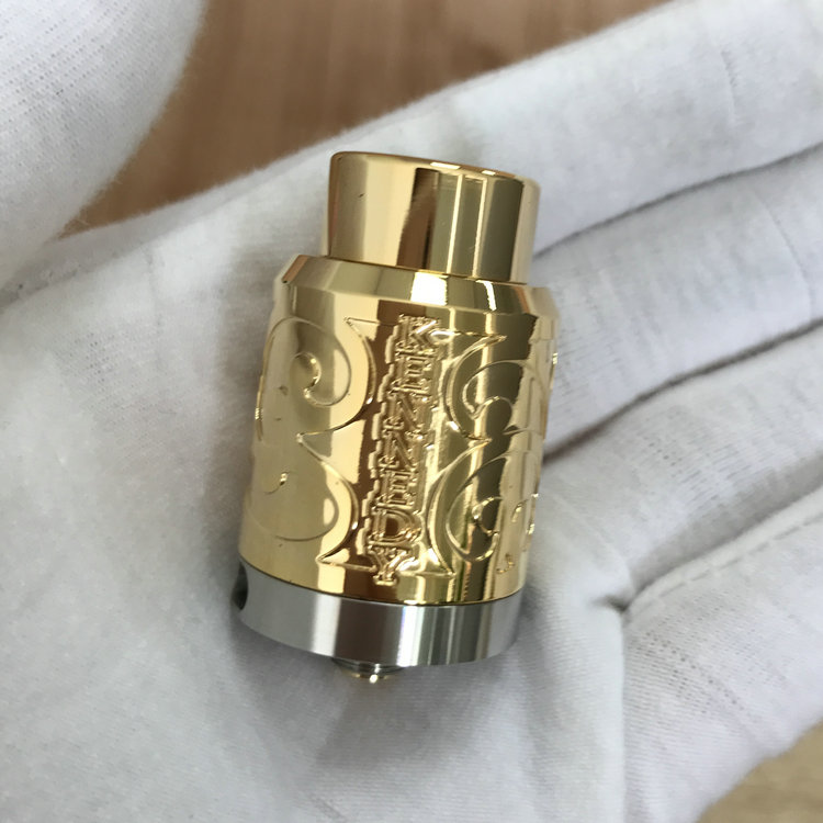 High Quality For Kennedy RDA 24mm Carved Kennedy RDA Gold Kennedy Rda In 316 Stainless Steel