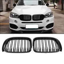 Samger un par para BMW X3 X4 F25 F26 2014 17 Parrilla de riñon frontal mate brillante Negro M Color reemplazo de parrillas de carreras